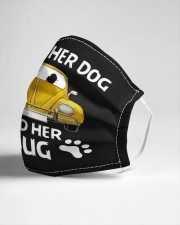 A girl a dog and her bug Cloth face mask aos-face-mask-lifestyle-21