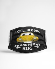 A girl a dog and her bug Cloth face mask aos-face-mask-lifestyle-22