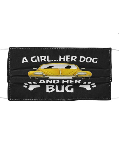 A girl a dog and her bug