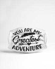 You are my greatest adventure Cloth face mask aos-face-mask-lifestyle-22