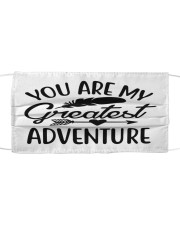You are my greatest adventure Cloth face mask front