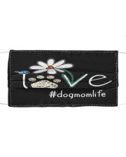 Love Dog Mom Life Cloth face mask front