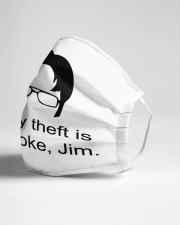 Theft is Not A Joke Cloth face mask aos-face-mask-lifestyle-21