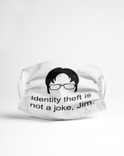Theft is Not A Joke Cloth face mask aos-face-mask-lifestyle-22