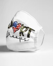 Support our troops Cloth face mask aos-face-mask-lifestyle-21