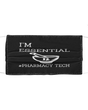 Essential pharmacy Technician Cloth face mask front