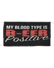 blood type is beer Cloth face mask front