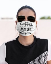 Coffee gets me started Cloth face mask aos-face-mask-lifestyle-02