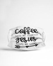 Coffee gets me started Cloth face mask aos-face-mask-lifestyle-22
