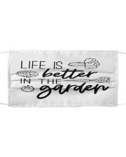 Life is Better in the Garden Cloth face mask front