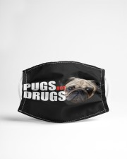 Pugs Not Drugs Cloth face mask aos-face-mask-lifestyle-22