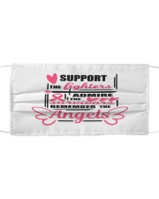 Support the fighters Cloth face mask front