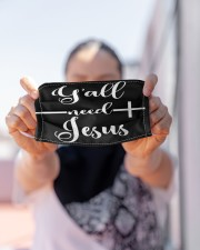 LH Y'all Need Jesus Cloth face mask aos-face-mask-lifestyle-07