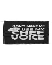 use my chef voice Cloth face mask front