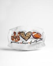 Peace love Football Cloth face mask aos-face-mask-lifestyle-22