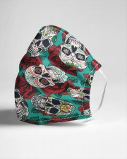 Sugarskull roses Cloth face mask aos-face-mask-lifestyle-21