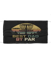 Disc golf dad Cloth face mask front