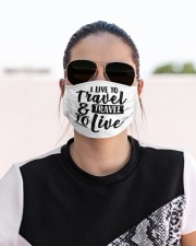 I love to travel Cloth face mask aos-face-mask-lifestyle-02