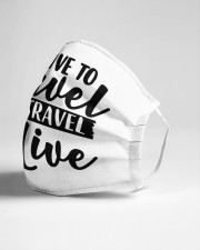 I love to travel Cloth face mask aos-face-mask-lifestyle-21