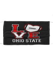 Love ohio football Cloth face mask front