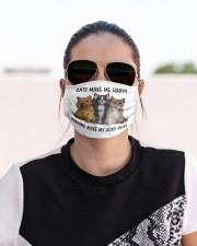 cat makes me happy Cloth face mask aos-face-mask-lifestyle-02