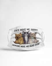 cat makes me happy Cloth face mask aos-face-mask-lifestyle-22