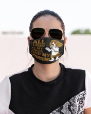 American foxhound Cloth face mask aos-face-mask-lifestyle-02