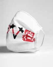Love firefighter Cloth face mask aos-face-mask-lifestyle-21