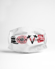 Love firefighter Cloth face mask aos-face-mask-lifestyle-22