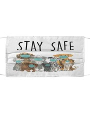 LH Dogs Stay Safe Cloth face mask front