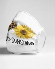 Peace love sunshine Cloth face mask aos-face-mask-lifestyle-21