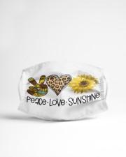 Peace love sunshine Cloth face mask aos-face-mask-lifestyle-22