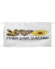 Peace love sunshine Cloth face mask front