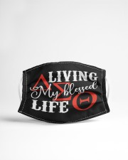Living My Blessed Life delta Cloth face mask aos-face-mask-lifestyle-22
