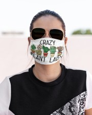 Crazy plant lady Cloth face mask aos-face-mask-lifestyle-02