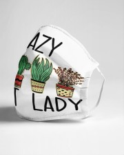 Crazy plant lady Cloth face mask aos-face-mask-lifestyle-21