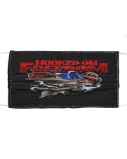 Hooked on freedom Cloth face mask front