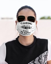 Cooking makes me happy chef Cloth face mask aos-face-mask-lifestyle-02
