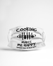Cooking makes me happy chef Cloth face mask aos-face-mask-lifestyle-22