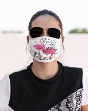 Flamingo In October Cloth face mask aos-face-mask-lifestyle-02