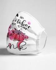 Flamingo In October Cloth face mask aos-face-mask-lifestyle-21