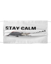Stay calm Cloth face mask front