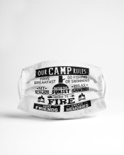 Our camp rules Cloth face mask aos-face-mask-lifestyle-22