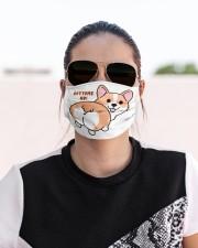 Bottoms up corgi Cloth face mask aos-face-mask-lifestyle-02