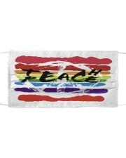 Teach peace Cloth face mask front