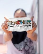 LH Teacher Love Inspire Cloth face mask aos-face-mask-lifestyle-07