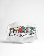 LH Teacher Love Inspire Cloth face mask aos-face-mask-lifestyle-22