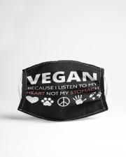 Vegan message Cloth face mask aos-face-mask-lifestyle-22