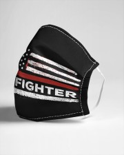 Firefighter flag Cloth face mask aos-face-mask-lifestyle-21