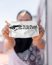 LH Run She Got Jeep Cloth face mask aos-face-mask-lifestyle-07